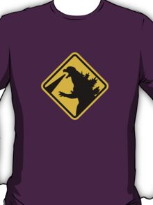Beware of Japanese Monsters Road Sign T-Shirt
