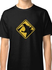 Beware of Japanese Monsters Road Sign Classic T-Shirt