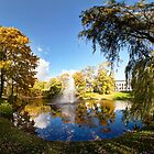 Nature fall a sleep in autumn. Riga  park panorama. by paulsrphoto