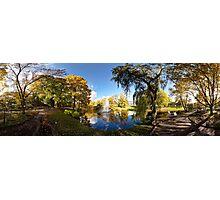 Nature fall a sleep in autumn. Riga  park panorama. Photographic Print