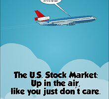 high flying u.s. stocks cartoon by Binary-Options