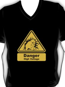 Blanka High Voltage Road Sign from Street Fighter T-Shirt