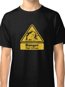 Blanka High Voltage Road Sign from Street Fighter Classic T-Shirt