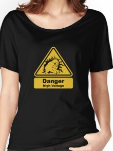 Blanka High Voltage Road Sign from Street Fighter Women's Relaxed Fit T-Shirt