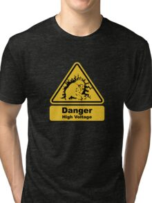 Blanka High Voltage Road Sign from Street Fighter Tri-blend T-Shirt