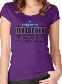 Whovian definition Women's Fitted Scoop T-Shirt