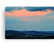 Canberra Moon Canvas Print