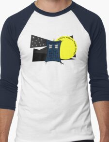 Abstract Tardis 5 Men's Baseball ¾ T-Shirt