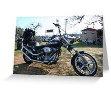 Harley Chopper Greeting Card