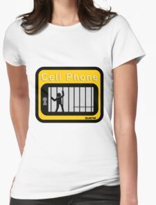 Cell phone Womens Fitted T-Shirt