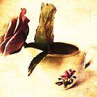Vintage Rose & Old Vase. by Vitta