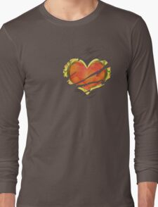 Heart Container tearing through shirt Long Sleeve T-Shirt