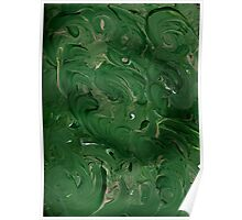 GREEN AND TAN ABSTRACT Poster