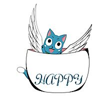 Fairy Tail, Cute Cat (Happy) Photographic Print