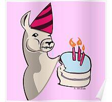 Birthday Llama Poster