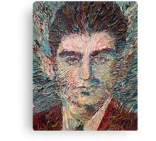 FRANZ KAFKA oil portrait Canvas Print
