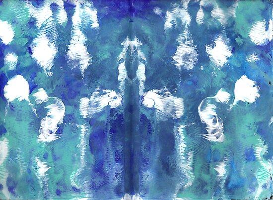 VISION IN BLUE MANDALA by karen66