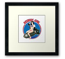 The Patriot Girl USA Framed Print