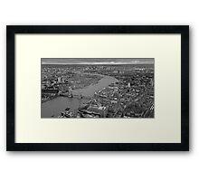 River Thames monochrome Framed Print