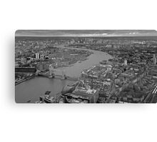 River Thames monochrome Canvas Print