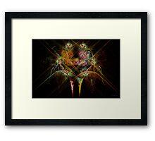 Fractal - Christ - Angels Embrace Framed Print