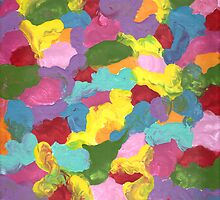COLORFUL FRENZY ON CANVAS by karen66