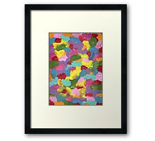 COLORFUL FRENZY ON CANVAS Framed Print