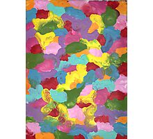 COLORFUL FRENZY ON CANVAS Photographic Print