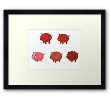 Pigs made of Pork Products! Framed Print