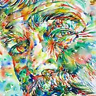 ERNEST HEMINGWAY watercolor portrait.2 by lautir