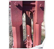 Bollman truss bridge support Poster