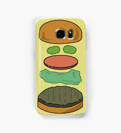 """Deconstructed Burg"" Deconstructed Burger Hamburger Lettuce Tomatoes Foodie Food Humor Silly Funny Pickles Bun Samsung Galaxy Case/Skin"