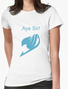 Fairy Tail Aye Sir! Womens Fitted T-Shirt