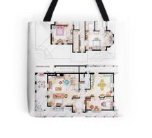 House of Lorelai & Rory Gilmore - Both Floorplans Tote Bag
