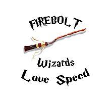 Harry Potter - Firebolt Photographic Print