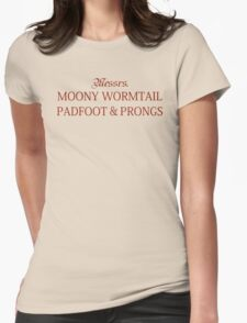 Messrs Moony, Wormtail, Padfoot and Prongs Womens Fitted T-Shirt