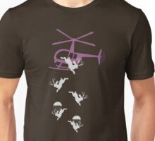 Parachutting jackalope Unisex T-Shirt