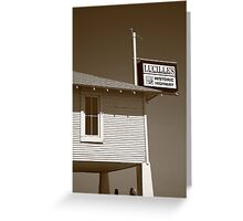 Route 66 - Lucille's Gas Station Greeting Card