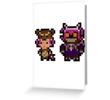 Pixel Reverse Annie (and Tibbers) Greeting Card