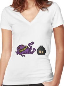 Pixel Ultros, The Main Villain Women's Fitted V-Neck T-Shirt