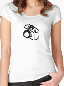 Camera Sketch Women's Fitted Scoop T-Shirt