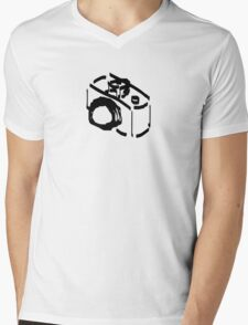 Camera Sketch Mens V-Neck T-Shirt