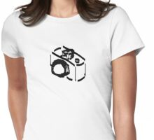 Camera Sketch Womens Fitted T-Shirt