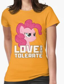 Pinkie Pie - Love And Tolerate Womens Fitted T-Shirt
