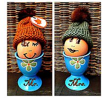 Mr. & Mrs. Egghead Photographic Print