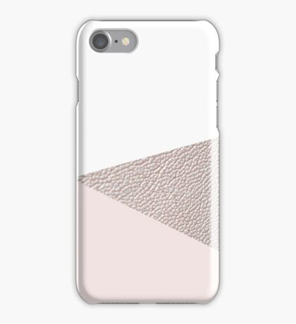 White and pearl pink iPhone Case/Skin
