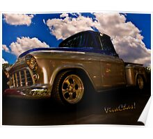 56 Chevy Pickup B4 Sundown Poster
