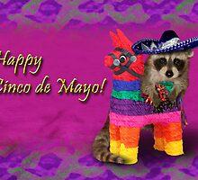 Cinco de Mayo Raccoon by jkartlife