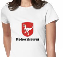 dinosaur T-Rex middle ages medieval  Womens Fitted T-Shirt