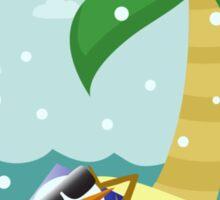 Snowman Vacation Sticker